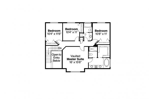 Traditional House Plan - Brighton 30-331 - 2nd Floor Plan