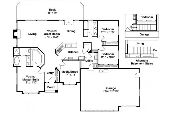 Traditional House Plan - Camden 30-051 - Floor Plan
