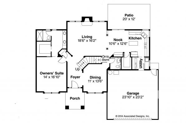 Traditional house plans coleridge 30 251 associated 2 story traditional house plans