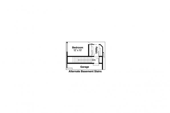 Traditional House Plan - Emory 30-319 - Alternate Basement Option