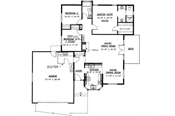 Traditional House Plan - Hampton 10-028 - Floor Plan