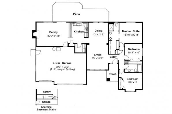 Traditional House Plan - Hillsboro 30-057 - Floor Plan
