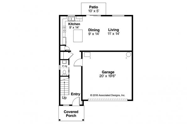 Traditional House Plan - Juneberry 31-107 - First Floor Plan