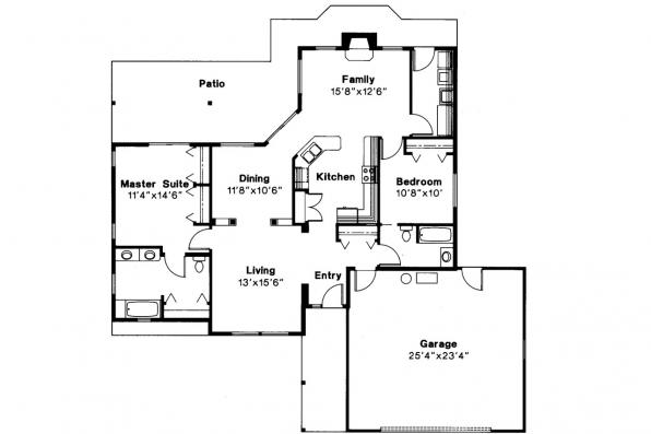 Traditional House Plan - Manning 10-108 - Floor Plan