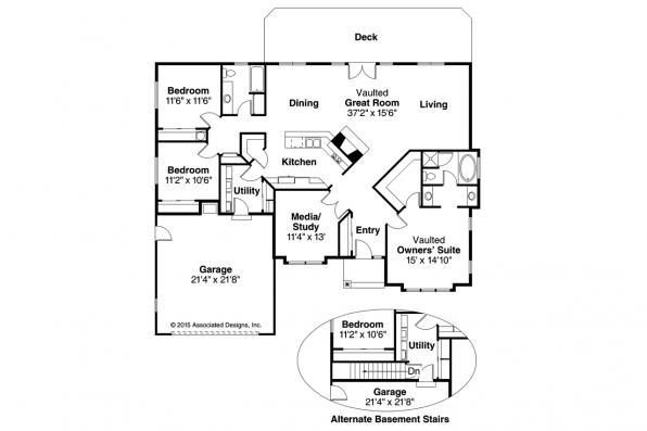 Traditional House Plan - Stayton 10-040 - Floor Plan