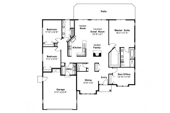 Traditional House Plan - Syracuse 30-063 - Floor Plan