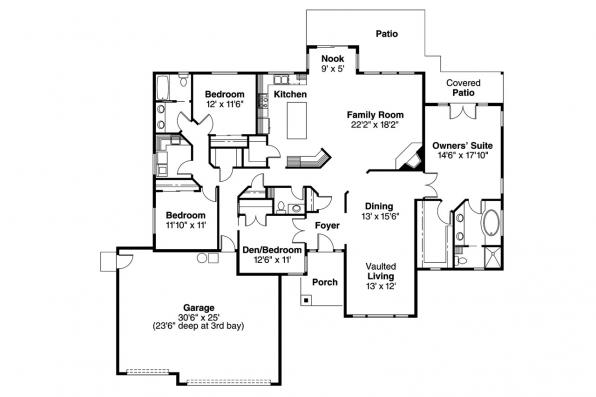 Traditional House Plan - Waterford 30-078 - Floor Plan