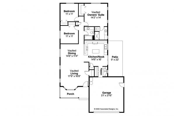 Traditional House Plan - Waverly 30-087 - Floor Plan
