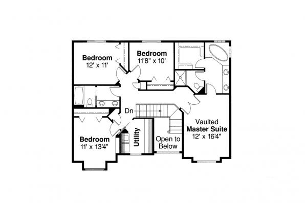 Traditional House Plan - Westhaven 30-173 - 2nd Floor Plan