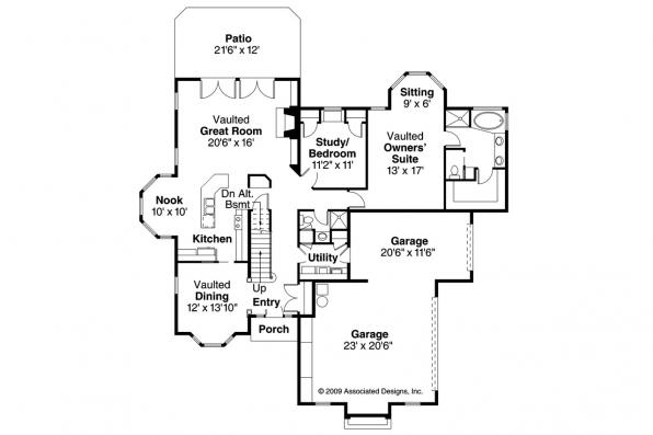 Traditional House Plan - Wichita 10-254 - 1st Floor Plan