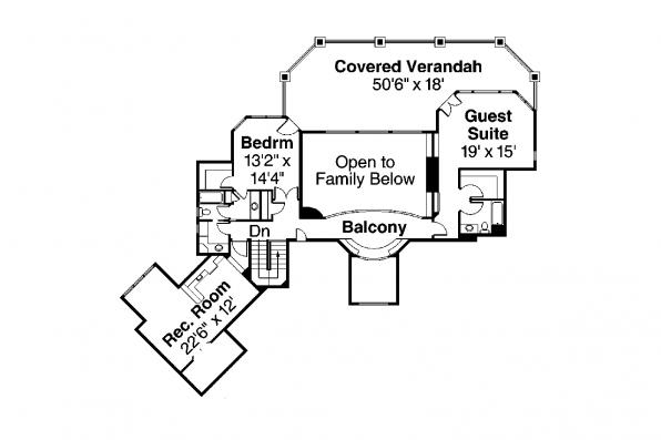 Tudor House Plan - Addison 30-795 - 2nd Floor Plan