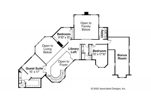 Tudor Houe Plan - Cheshire 10-055 - 2nd Floor Plan