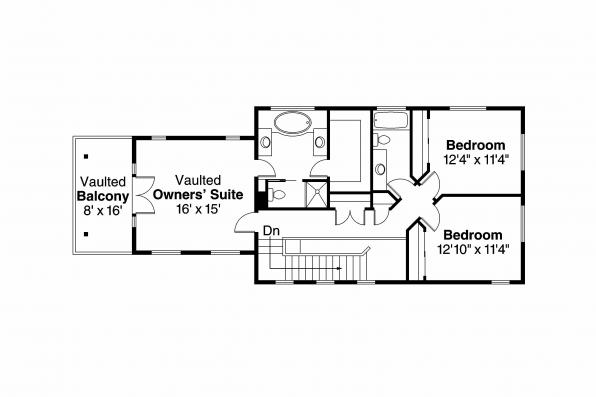 Tudor House Plan - Walcott 30-166 - 2nd Floor Plan