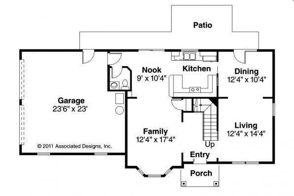 Victorian House Plan - Ashwood 30-092 - 1st Floor Plan