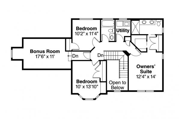 Victorian House Plan - Ashwood 30-092 - 2nd Floor Plan