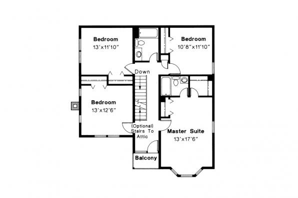 Victorian House Plan - Astoria 41-009 - 2nd Floor Plan