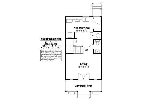 Victorian House Plan - Pearl 42-010 - 1st Floor Plan