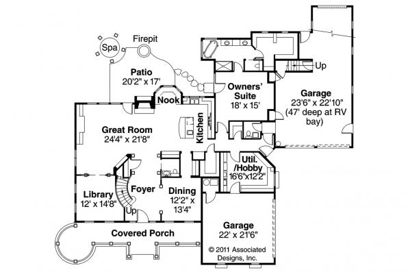 Victorian House Plan - Randell 30-395 - First Floor Plan