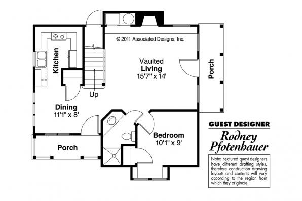 Victorian House Plan - Topeka 42-012 - 1st Floor Plan