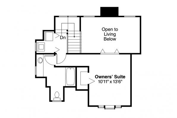 Victorian House Plan - Topeka 42-012 - 2nd Floor Plan