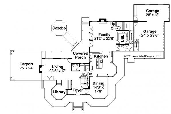 Victorian House Plan - Victorian 10-027 - 1st Floor Plan