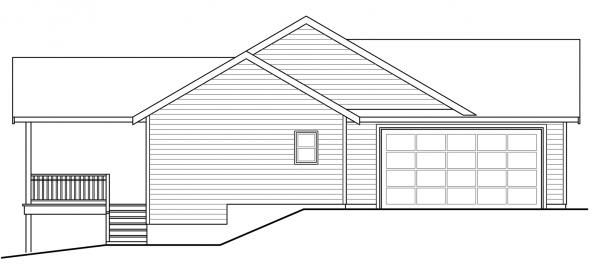 Kensington - 30-843 - Country Home Plans - Left Elevation