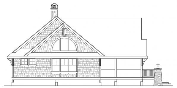 Glen Eden - 50-017 - Craftsman Home Plan - Left Elevation