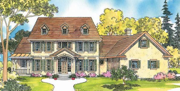 Palmary - 10-404 - Estate Home Plan - Front Elevation