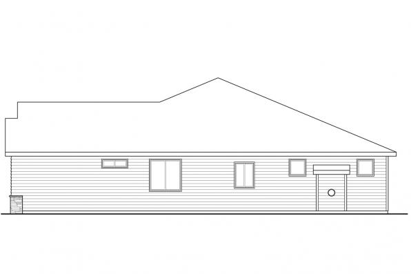 1 Story House Plan - Manzanita 31-073 - Right Elevation