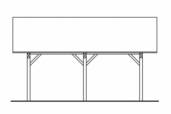 2 Car Carport Plan 20-028 - Left Elevation
