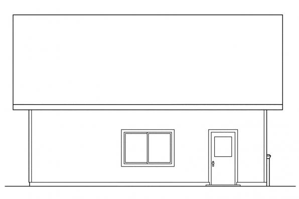2 Car Garage Plan 20-005 - Rear Elevation