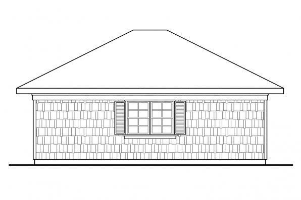 2 Car Garage Plan 20-006 - Left Elevation