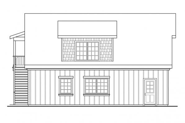 2 Car Garage Plan 20-020 - Left Elevation