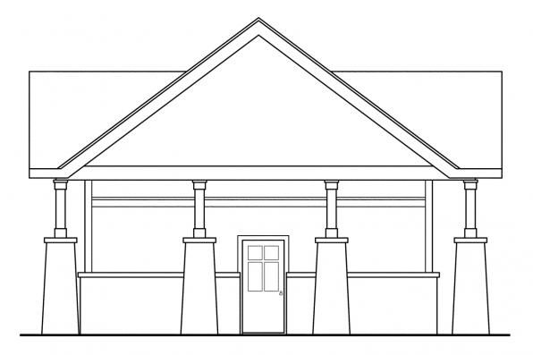 2 Car Garage Plan 20-021 - Left Elevation