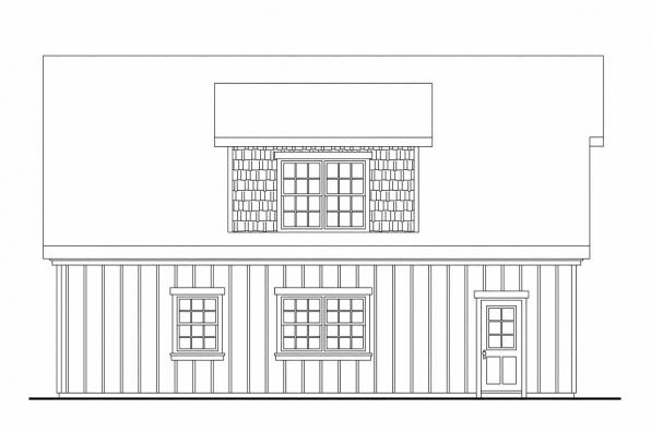 Plan And Elevation Of Car : Shingle style house plans car garage w loft