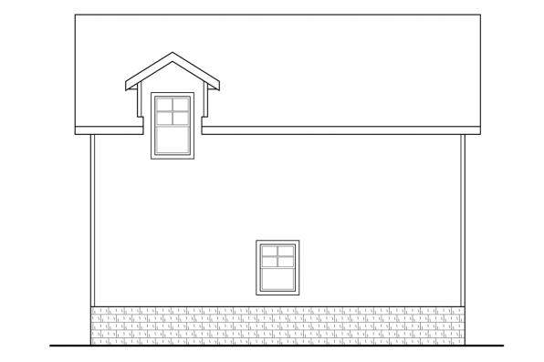 2 Car Garage Plan 20-063 - Left Elevation