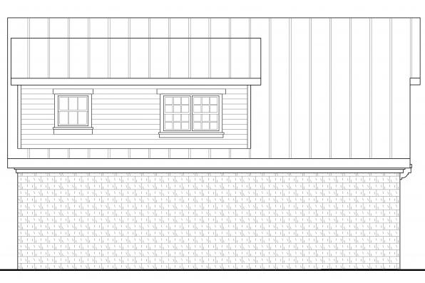 2 Car Garage Plan 20-067 - Left Elevation