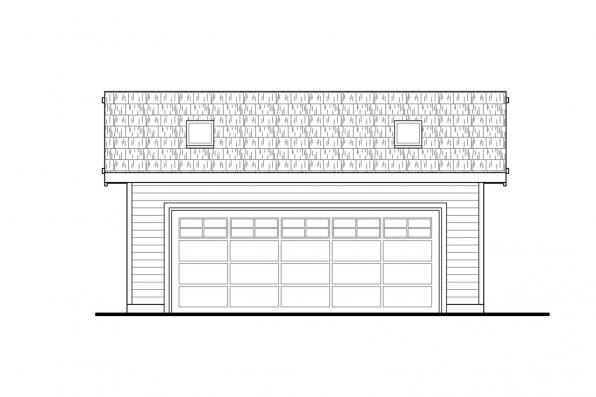 2 Car Garage Plan 20-068 Front Elevation