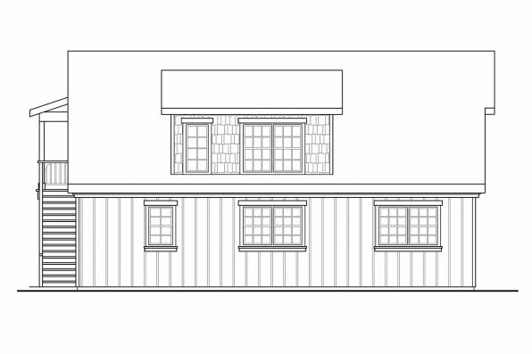 2 Car Garage Plan 20-080 - Left Elevation