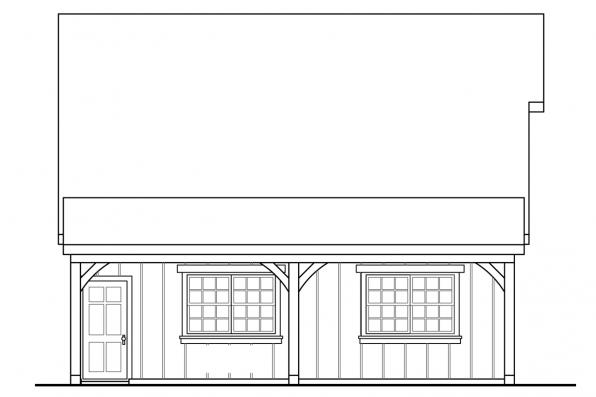 2 Car Garage Plan 20-100 - Left Elevation