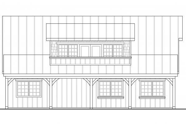 2 Car Garage Plan 20-119 - Left Elevation