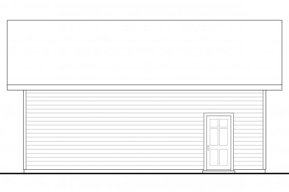 2 Car Garage Plan 20-135 - Left Elevation