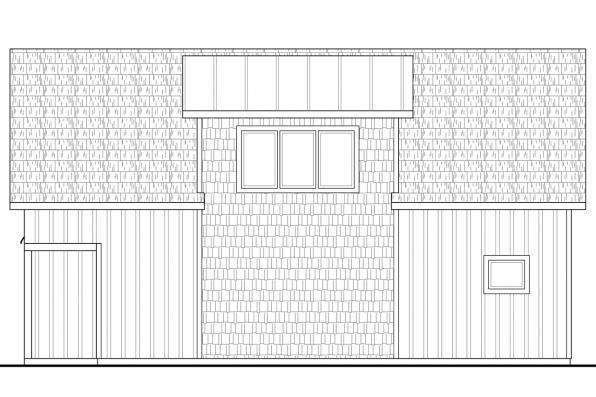 2 Car Garage Plan 20-141 - Right Elevation