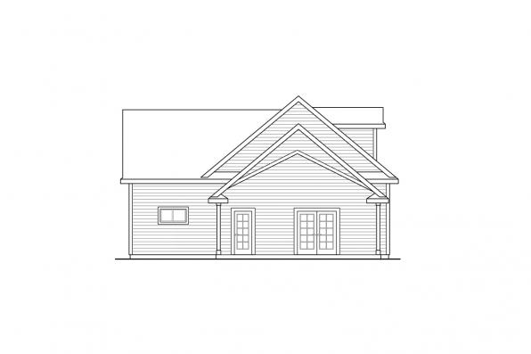2 Car Garage Plan 20-166 - Left Elevation