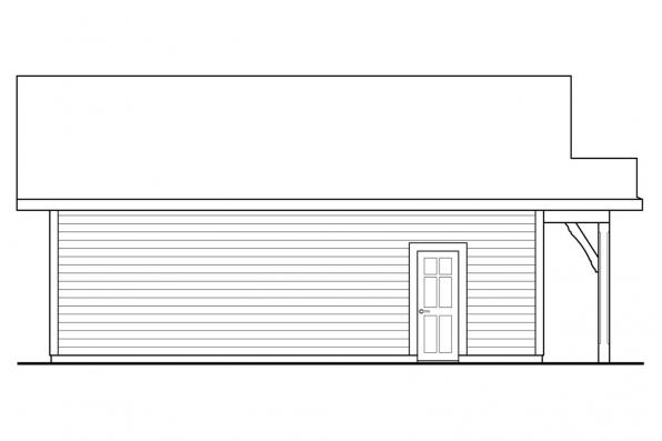 2 Car Garage Plan 20-222 - Left Elevation