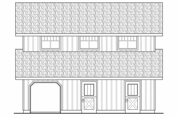 Country House Plans Barn 20 059 Associated Designs
