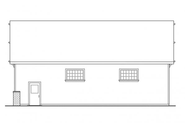 2 Story Garage Plan 20-046 - Right Elevation