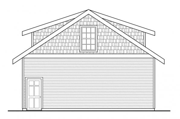 2 Story Garage Plan 20-049 - Right Elevation