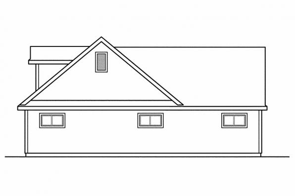 2 Story Garage Plan 20-075 - Right Elevation