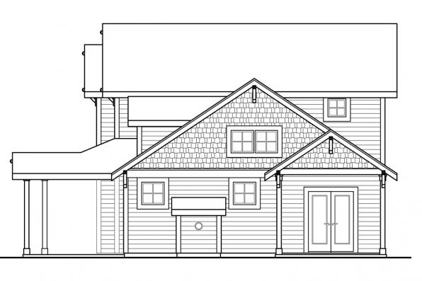 2 Story House Plan - Fairhaven 31-077 - Right Elevation